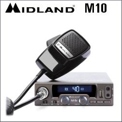 MIDLAND M10 EMISORA CB MULTIESTANDAR DE 40 CANALES AM/FM