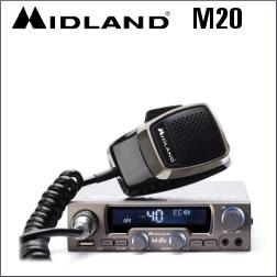 MIDLAND M20 EMISORA CB MULTIMEDIA CON 40 CANALES AM/FM