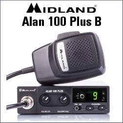 MIDLAND ALAN 100 PLUS B EMISORA DE BANDA CIUDADANA DE 4 CANALES AM/FM