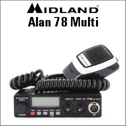 MIDLAND ALAN 78 MULTI EMISORA CB MULTIESTANDAR DE 40 CANALES AM/FM