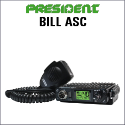 PRESIDENT BILL ASC EMISORA CB DE 40 CANALES AM-FM