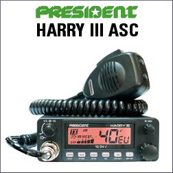 PRESIDENT HARRY III ASC EMISORA CB DE 40 CANALES AM/FM