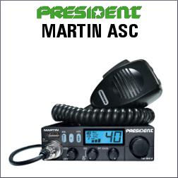 PRESIDENT MARTIN ASC EMISORA CB DE 40 CANALES AM/FM