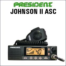 PRESIDENT JOHNSON II ASC EMISORA CB DE 40 CANALES AM/FM