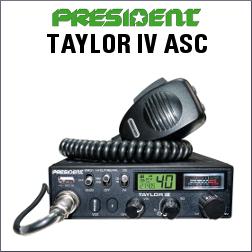 PRESIDENT TAYLOR IV ASC EMISORA CB DE 40 CANALES AM/FM