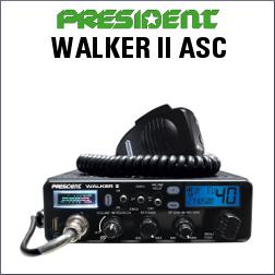PRESIDENT WALKER II ASC Emisora de banda ciudadana de 40 canales AM/FM