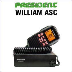 PRESIDENT WILLIAM ASC CON 40 CANALES AM/FM