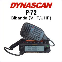 RADIO DYNASCAN P-72 VHF/UHF ULTRA PEQUEÑA