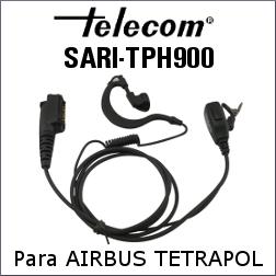 AURICULAR CON MICRÓFONO SARI-TPH900 PARA AIRBUS TETRAPOL